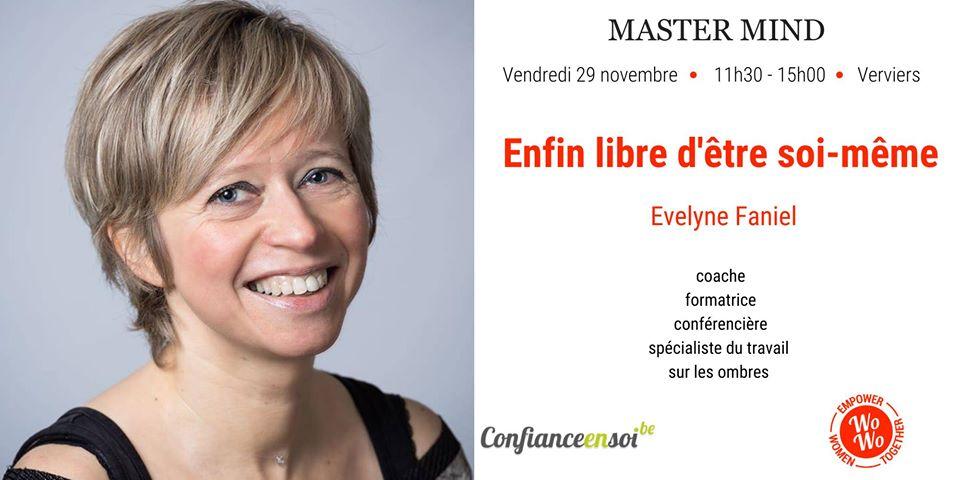 Evelyne Faniel, l'effet miroir, lors de son master mind Enfin libre d'être soi-meme